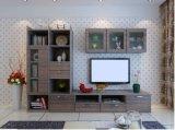 حديثة يعيش غرفة تلفزيون حامل قفص [ستينلسّ ستيل] [كفّ تبل] زجاجيّة ([زك-001])