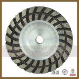180mm 구체적인 다이아몬드 디스크 컵 회전 숫돌