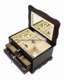 Ювелирные изделия темной отделки Rosewood штейновой деревянные & коробка нот