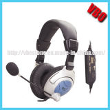 Vibración de auriculares del ordenador, auriculares con micrófono