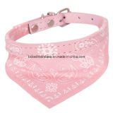 OEM Produce Customized Logo imprimé petit chien ajustable Dog Bandana Bandoulière Collier Foulard