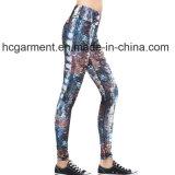 Vêtements d'entraînement pour femme, jambières de gymnastique, pantalons Capri d'impression