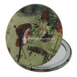 Espelho redondo da composição da antiguidade original de mica