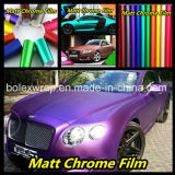 PVC材料はマットのクロムフィルム、車の覆いのビニールのフィルム、1.52mの幅を着色する