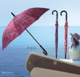 Automobil-geöffnetes buntes Drucken Straight Umbrella (JY-072)