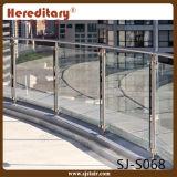 Sistema de trilhos de vidro SUS ao ar livre para balaustrada de terraço / aço inoxidável (SJ-S068)