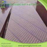 Madera contrachapada reciclada 18m m impermeable de la construcción de la base del pegamento con negro/la película de Brown