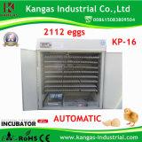 Incubateur automatique d'oeufs d'oeufs approuvés des avoirs 2000 de la CE/petit incubateur d'oeufs