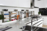 Welbom Modern White High Gloss Kitchen Furniture Kithcen Gabinete com Ilha