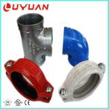 Te igual Grooved del hierro dúctil con la aprobación de la UL para la tubería del agua