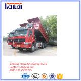 HOWOのダンプトラック6X4 Sinotrukのダンプカートラック