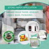 Papier synthétique mélangé de roche de HDPE pour des étiquettes et des conteneurs de nourriture