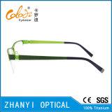Стекел Eyeglass Eyewear способа рамка Semi-Rimless Titanium оптически (8209)