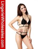 Reizvolle Dame-Bikini-Schwarz-Rahmen-Auslegung gurtete Badebekleidung