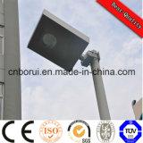 2016 Nuevo diseño de CE RoHS IP66 rotativos 60W luces de calle solares todo en uno con sensor de movimiento PIR Luz solar de la calle