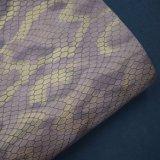 二重カラーによって浮彫りにされる格子総合的なPU袋の革