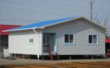 Casa viva pré-fabricada clara da construção de aço