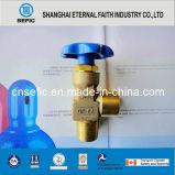 Válvula del tanque de gas argón Qf Cga oxígeno del nitrógeno