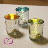 素晴らしい現代奉納の電気版のガラス蝋燭ホールダーの蝋燭のコップ