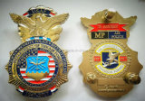 亜鉛合金3Dの軍のバッジPinは警察のバッジに記章を付ける