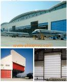 Se Plier de Levage de Tissu de PVC Vers le Haut de la Porte de Hangar D'avions