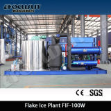 [2016 Hot Sales] 10 toneladas / dia Flake Ice Machine para congelar peixe