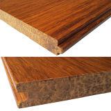 Suelo de bambú tejido hilo sólido carbonizado T&G de Handscraped