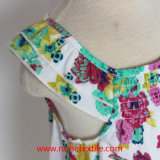 Безрукавный милое платье цветка печати воды для девушки