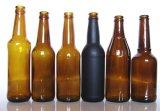 녹색 호박색 색깔 맥주 병