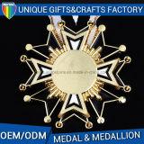 La medaglia mette in mostra il medaglione del metallo per i regali promozionali