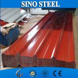 Feuille galvanisée enduite d'une première couche de peinture de toit de tôle d'acier de fer