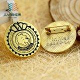 고대 색깔 주문 금속 사기질 동물성 접어젖힌 옷깃 Pin 기장