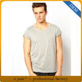 T-shirts ordinaires blanc d'hommes de coton de la vente en gros 100