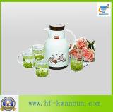 緑のAppleカラーガラス水差しの一定の台所用品のKbJh06171