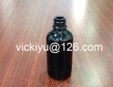 30ml frasco de vidro preto, 30ml frasco de vidro preto roxo, frascos de vidro pretos violetas para a loção