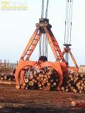 Garra hidráulica da madeira da máquina escavadora da maquinaria