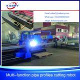 Máquina de estaca redonda da flama do plasma do CNC do perfil da câmara de ar do quadrado da tubulação para o cortador de aço Kr-Xf8 da fabricação