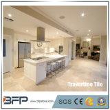 Mattonelle beige del travertino di prezzi del marmo del travertino per la pavimentazione interna