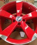 Audiのレプリカの合金の車輪のために磨く美しく赤い部分