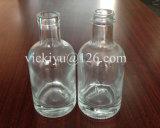 frasco 100ml de vidro altamente branco com parte inferior e parte superior grossas do parafuso para o licor