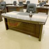 Mesa de escritório executivo de madeira certificada Fsc do folheado (HY-D8718)