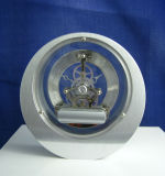 Skeleton Dial Roman Round Metal Mantel Clock