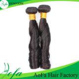 Perruques indiennes noires normales de cheveux humains de Vierge de courbure de ressort