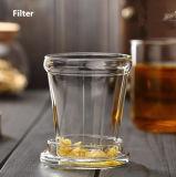 taza de té de cristal 400ml con el vidrio de cristal del té de la oficina de la taza del regalo del festival del filtro