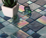 Gold Line Rainbow Color Crystal Pool Mosaïque en verre pour piscine (CSJ103)