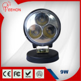 9개 와트 둥근 LED 작동 빛