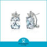 Neueste Form-Silber-Aktien-Ohrringe für Damen (J-0121-E)