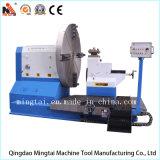 Torno grande del CNC para trabajar a máquina la placa de acero forjada (CK64160)