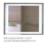 Espejo ligero de plata claro Illuminating del cuarto de baño de la batería LED del precio competitivo