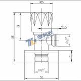 Válvula de ángulo de alta calidad de latón chapado en cromo (T1046)
